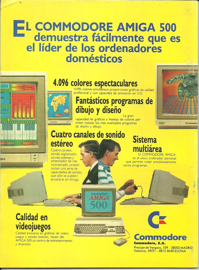 Commodore Amiga 500 - Publicidad en revistas - 1989