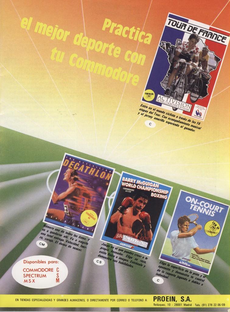 Juegos deportivos - varios - 1986 - Commodore 64