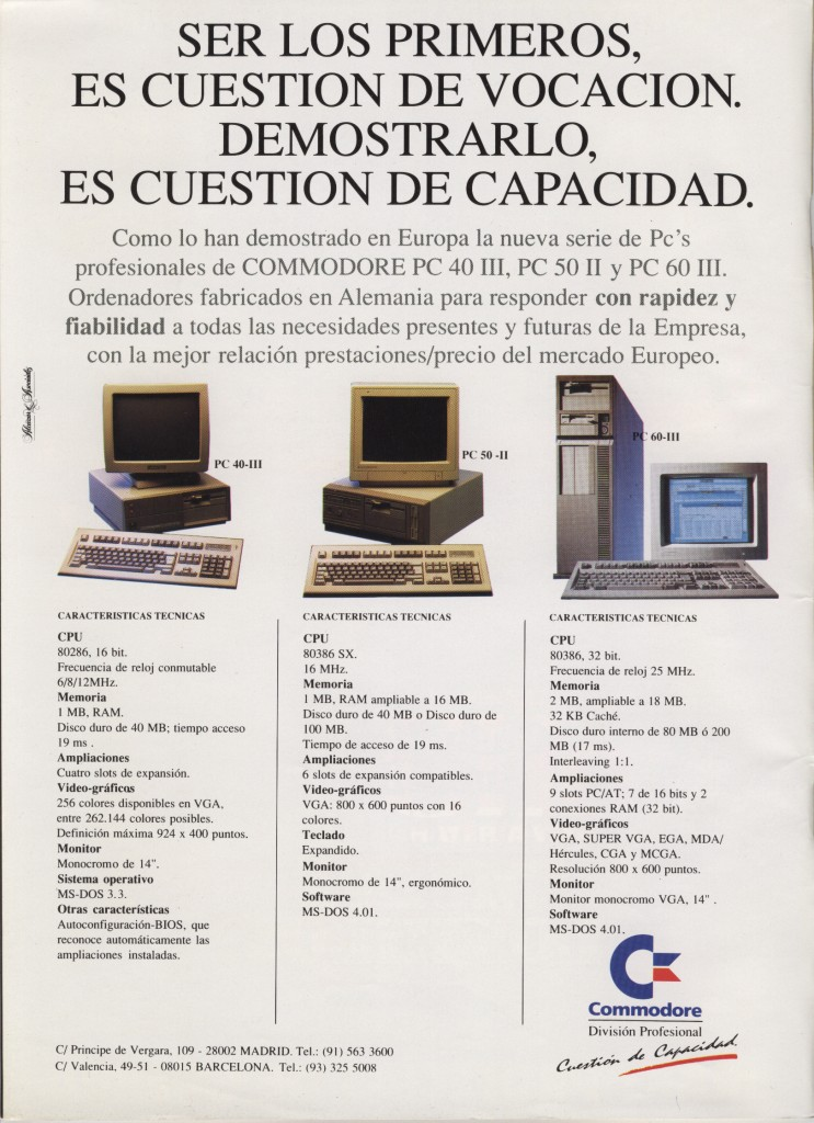 Commodore PCs - October 1989