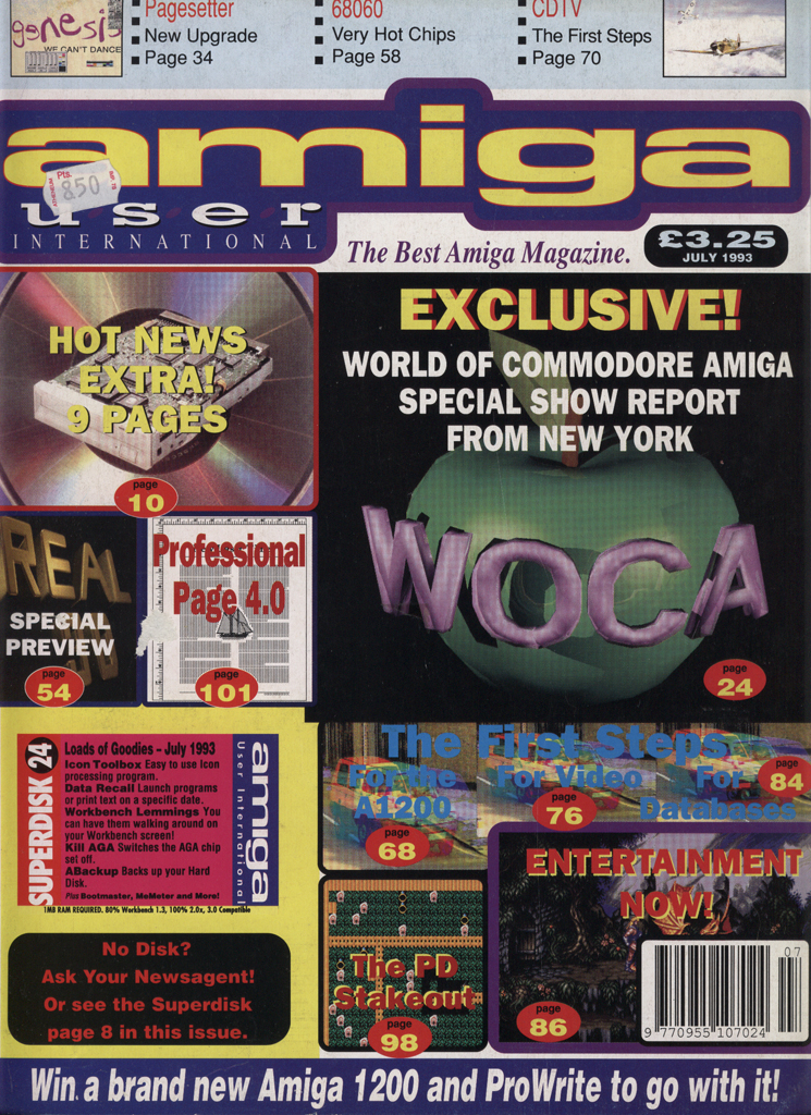 Amiga User International - July 1993